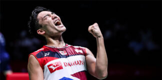 Kento Momota wins 2021 All England first round. (photo: AFP)