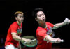 Marcus Fernaldi Gideon/Kevin Sanjaya Sukamuljo and other Indonesian players are extremely unhappy with the BWF decision by forcing them to withdraw from the All England tournament. (photo: Shi Tang/Getty Images)
