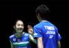 Yuki Kaneko/Misaki Matsutomo stage an unbelievable comeback to enter the All England final.(photo: Naomi Baker/Getty Images)