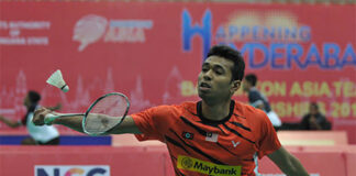 Iskandar Zulkarnain enters the Polish Open quarter-finals. (photo: AFP)