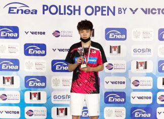 Ng Tze Yong with his Polish Open trophy. (photo: BAM)