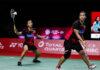 Chow Mei Kuan/Lee Meng Yean enter the Swiss Open semi-finals. (photo: Shi Tang/Getty Images)