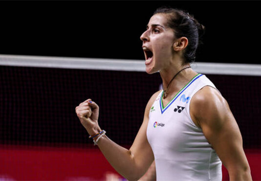 Carolina Marin to play PV Sindhu in the Swiss Open final. (photo: Shi Tang/Getty Images)