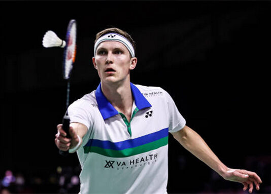 Viktor Axelsen enters the 2021 Swiss Open final. (photo: Shi Tang/Getty Images)
