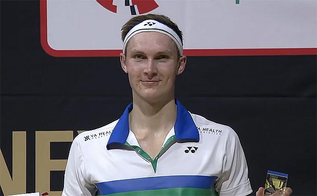 Viktor Axelsen takes home the 2021 Swiss Open title.