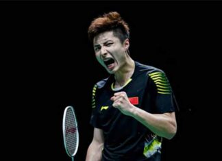 Shi Yuqi is working hard to earn more qualifying points for Tokyo Olympics. (photo: Fred Lee/Getty Images)
