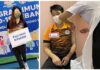 Goh Liu Ying & Chan Peng Soon receive the COVID-19 vaccine. (photo: Goh Liu Ying, Chan Peng Soon's Intagram)