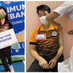 Goh Liu Ying & Chan Peng Soon receive the COVID-19 vaccine. (photo: Goh Liu Ying, Chan Peng Soon's Intagram)