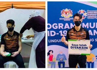 Lee Zii Jia receives coronavirus vaccination. (photo: BAM)