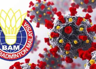 Six Malaysian badminton players tested positive for Covid-19.