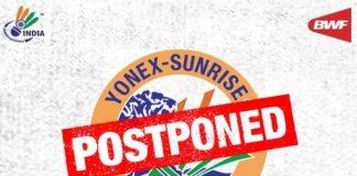The 2021 India Open has been postponed.