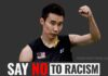 Lee Chong Wei says no to racism. (photo, social media post: GettyImages, Lee Chong Wei's Facebook)