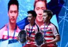 Marcus Fernaldi Gideon/Kevin Sanjaya Sukamuljo are spearheading Indonesia's challenge at Malaysia Open. (photo: Zhong Zhi/Getty Images)