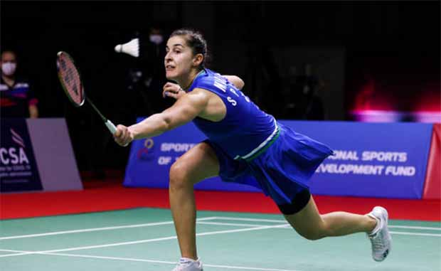Carolina Marin is eyeing her fifth European Championships title in Kyiv. (photo: Shi Tang/Getty Images)