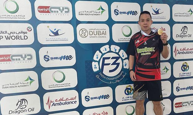 Cheah Liek Hou wins the 2021 Dubai Para Badminton International. (photo: Cheah Liek Hou's Instagram)