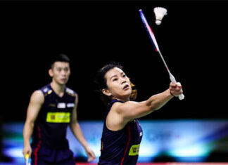 Chan Peng Soon/Goh Liu Ying are going to train outside of BAM facilities by themselves ahead of Tokyo Olympics. (photo: Shi Tang/Getty Images)