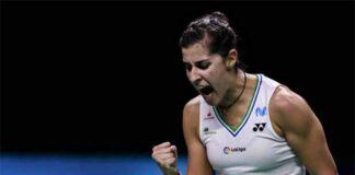 Carolina Marin advances to the 2021 European Championships final. (photo: Shi Tang/Getty Images)
