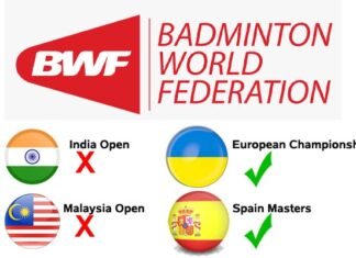 Malaysia Open postponed, but 2021 European Championships & Spain Masters go on despite higher covid-19 cases?