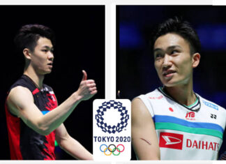 Lee Zii Jia (L) and Kento Momota (R) are heavy favorites to win Olympic gold.