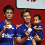 Kevin Sanjaya Sukamuljo/Marcus Fernaldi Gideon are heavy favorites to win the men's doubles gold medal in Tokyo Olympics. (photo: AFP)