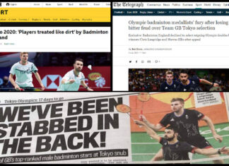 The Marcus Ellis/Chris Langridge vs. Badminton England incident is serious enough to garner a lot of media attention in the UK.