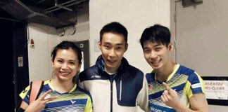 Lee Chong Wei (middle) stands up for Chan Peng Soon(R)/Goh Liu Ying against online haters. (photo: Bernama)