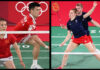Badminton at the Summer Olympics - Zheng Siwei/Huang Yaqiong, Marcus Ellis/Lauren Smith are in the top half of the mixed doubles quarter-final draw. (photo: Alexander Nemenov/AFP, Lintao Zhang/Getty Images)