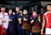 Lee Yang/Wang Chi-lin, Li Junhui/Liu Yuchen, Aaron Chia/Soh Wooi Yik Win Olympic men's doubles medals; Chen Long Faces Anthony Ginting in men's singles semis. (photo: Lintao Zhang/Getty Images)