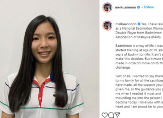 Wish Chow Mei Kuan all the best in her future endeavors. (photo: Chow Mei Kuan's Instagram)