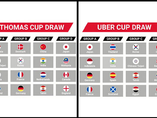 The 2020 Thomas Cup and Uber Cup Finals draw results. (photo: BWF)