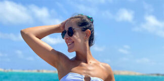 Carolina Marin flaunts her figure in a bikini. (photo: Carolina Marin's Twitter)