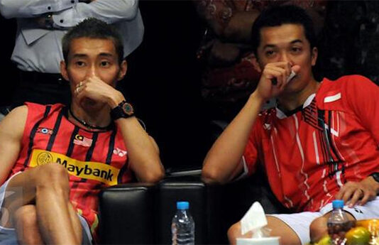 Lee Chong Wei and Taufik Hidayat are good friends outside of the badminton court. (photo: Yahoo)
