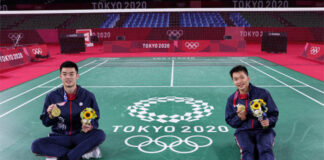 Lee Yang and Wang Chi-lin have recently been involved in endorsement disputes. (photo: Lintao Zhang/Getty Images)