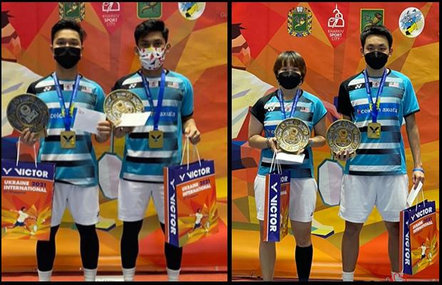Junaidi Arif/Muhammad Haikal, Yap Roy King/Valeree Siow win 2021 Ukraine International. (photo: BAM)