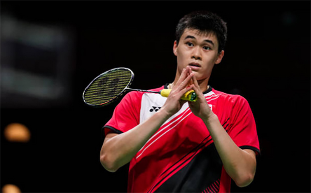 The 19-year-old Brian Yang of Canada is slowly making his presence felt in the sport of badminton. (photo: Shi Tang/Getty Images)