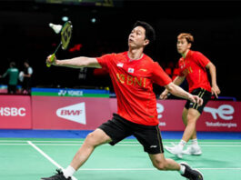 Marcus Fernaldi Gideon/Kevin Sanjaya Sukamuljo are very likely to face Aaron Chia/Soh Wooi Yik in the 2020 Thomas Cup quarter-finals. (photo: Shi Tang/Getty Images)