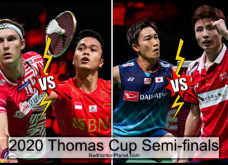 Viktor Axelsen, Anthony Sinisuka Ginting, Kento Momota, and Shi Yuqi are going to set up blockbuster clashes in the 2020 Thomas Cup semi-finals.(photo: Shi Tang/Getty Images)