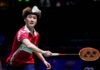Chen Yufei clinches the winning point for China in the 2021 Sudirman Cup semi-finals against Korea. (photo: Shi Tang/Getty Images)